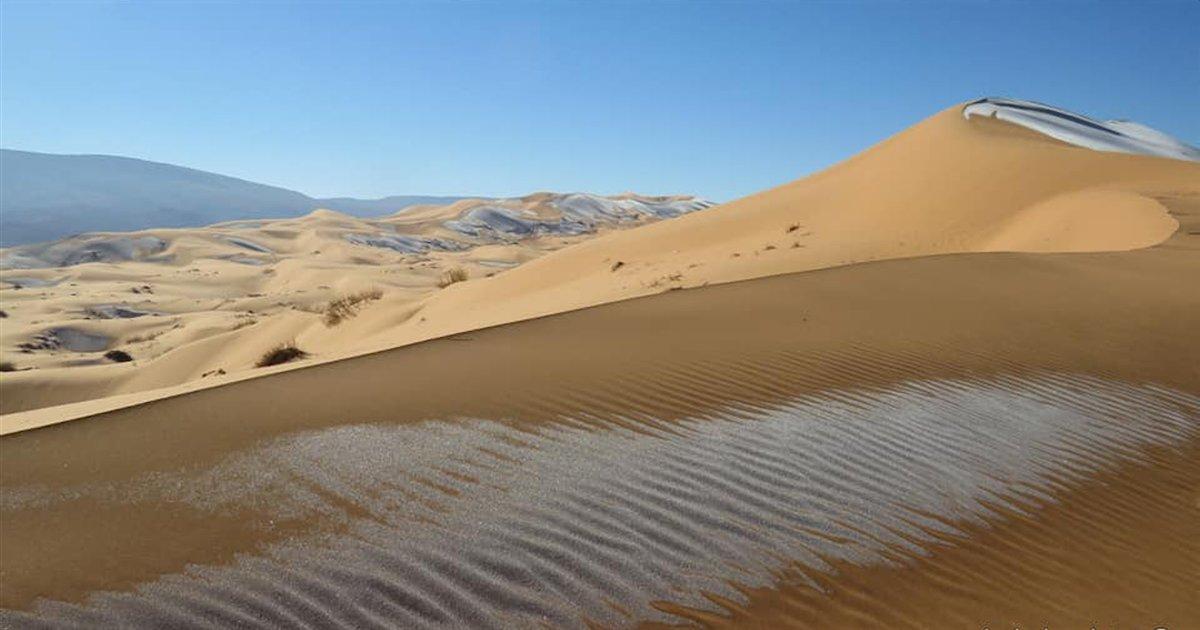 sahara.png?resize=1200,630 - Algérie : un photographe a pris des photos incroyables du Sahara sous la neige