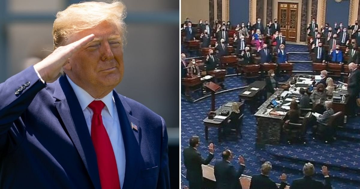 trial5.jpg?resize=412,232 - Majority Of Republican Senators Vote That Donald Trump Impeachment Trial Is Unconstitutional As He Is No Longer In Office