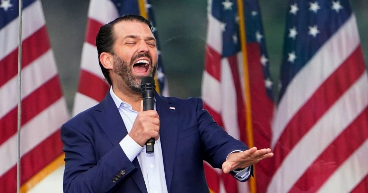trumpjr.jpg?resize=1200,630 - Don Trump Jr. Claims The World Is 'Laughing At America' And 'Free Speech Is Dead' After Father's Twitter Ban