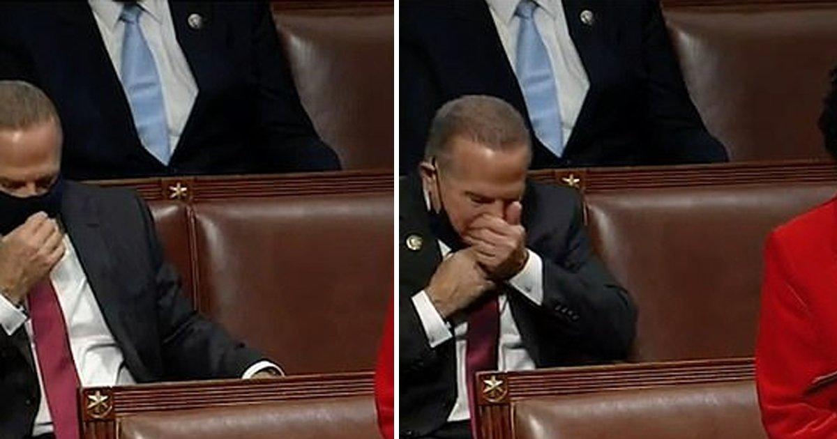 ttrtr.jpg?resize=412,232 - Video Shows Congressman 'Removing Mask' To Sneeze Into His Hand On House Floor