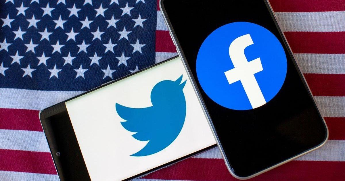 twitter facebook logo phone united states flag 4542 e1610044945907.jpg?resize=1200,630 - Trump suspendu de Twitter et Facebook après les violences à Washington