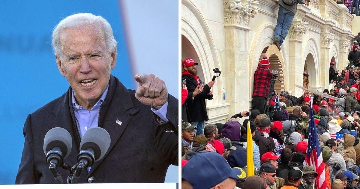 untitled design 1 4.jpg?resize=1200,630 - Joe Biden Left 'Shocked And Saddened' After 'Insurrection' At The Capitol