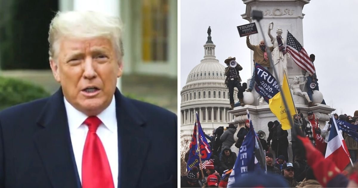 untitled design 10.jpg?resize=1200,630 - Trump Tells His MAGA Crowd To 'Go Home With Love' After Chaos At The Capitol