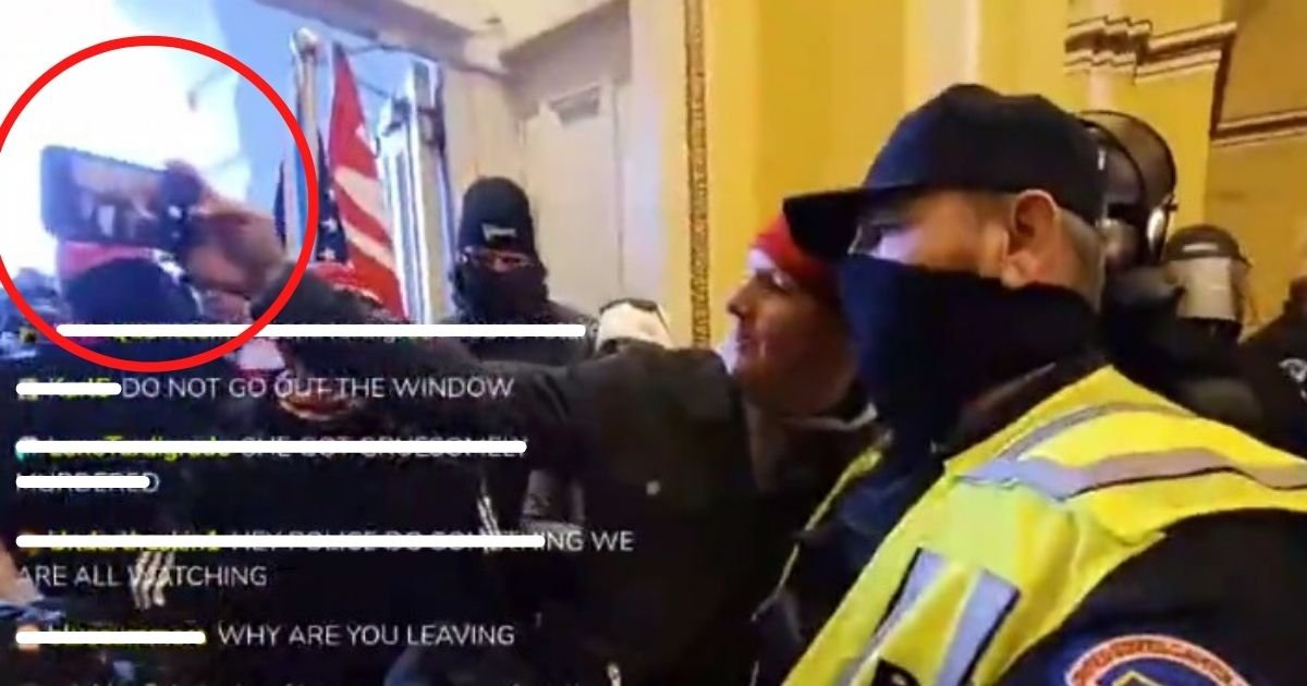 untitled design 4 5.jpg?resize=1200,630 - Capitol Police Officers Suspended After Wearing MAGA Hat And Taking Selfies With Rioters