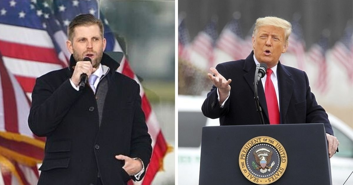 untitled design 4 6.jpg?resize=412,232 - Eric Trump Insists The President Is A Victim Of 'Cancel Culture' After Major Businesses Cut Ties With Him