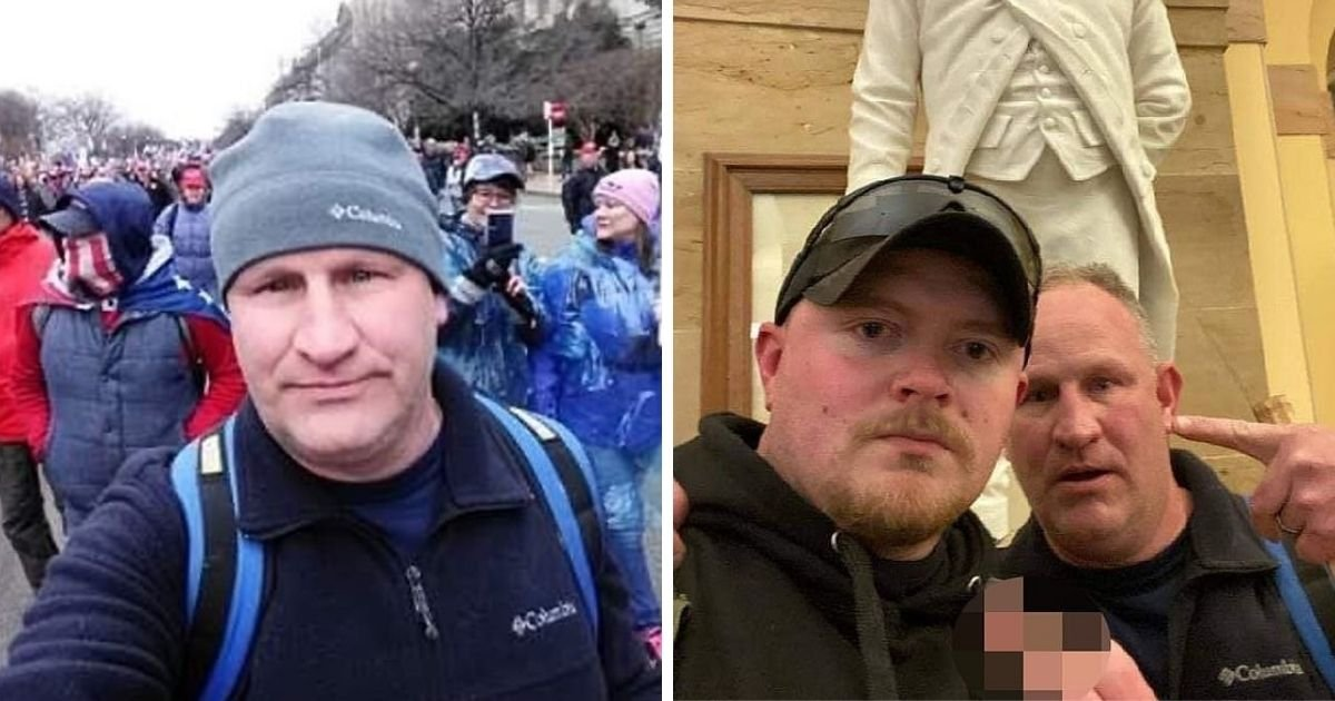 untitled design 7 5.jpg?resize=412,232 - Two Officers Arrested And Charged After Taking Selfies Inside The Capitol Amid Wednesday Riot