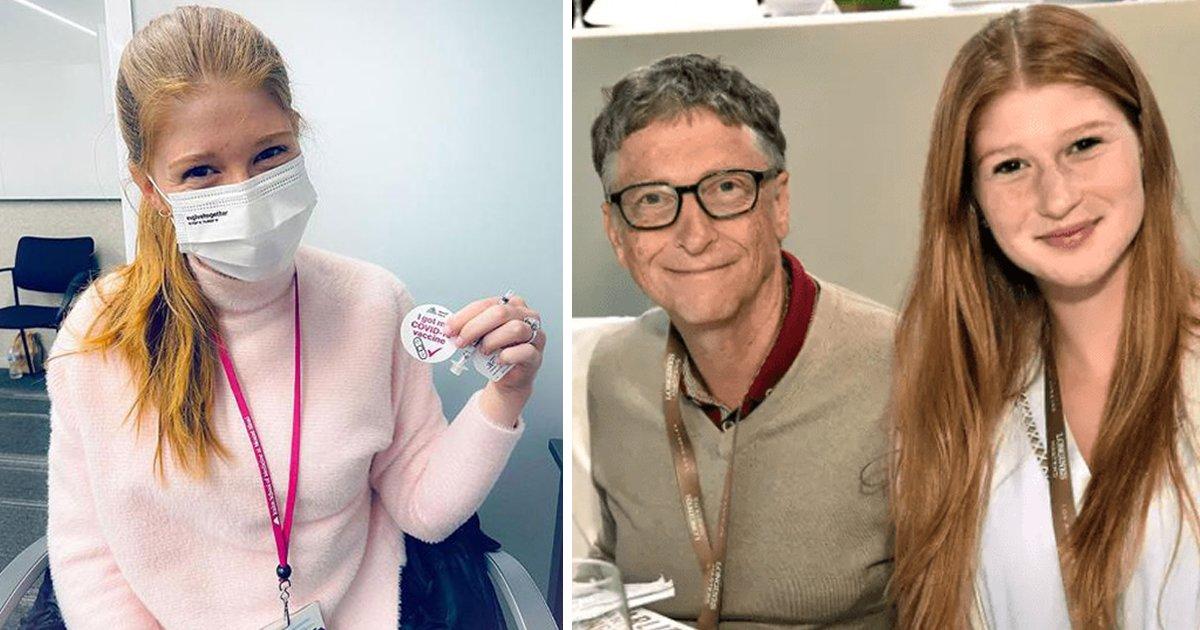 """1 100.jpg?resize=1200,630 - La Hija De Bill Gates Se Vacuna Y Se Burla De Las Teorías """"Conspiranóicas"""" Contra Su Padre"""