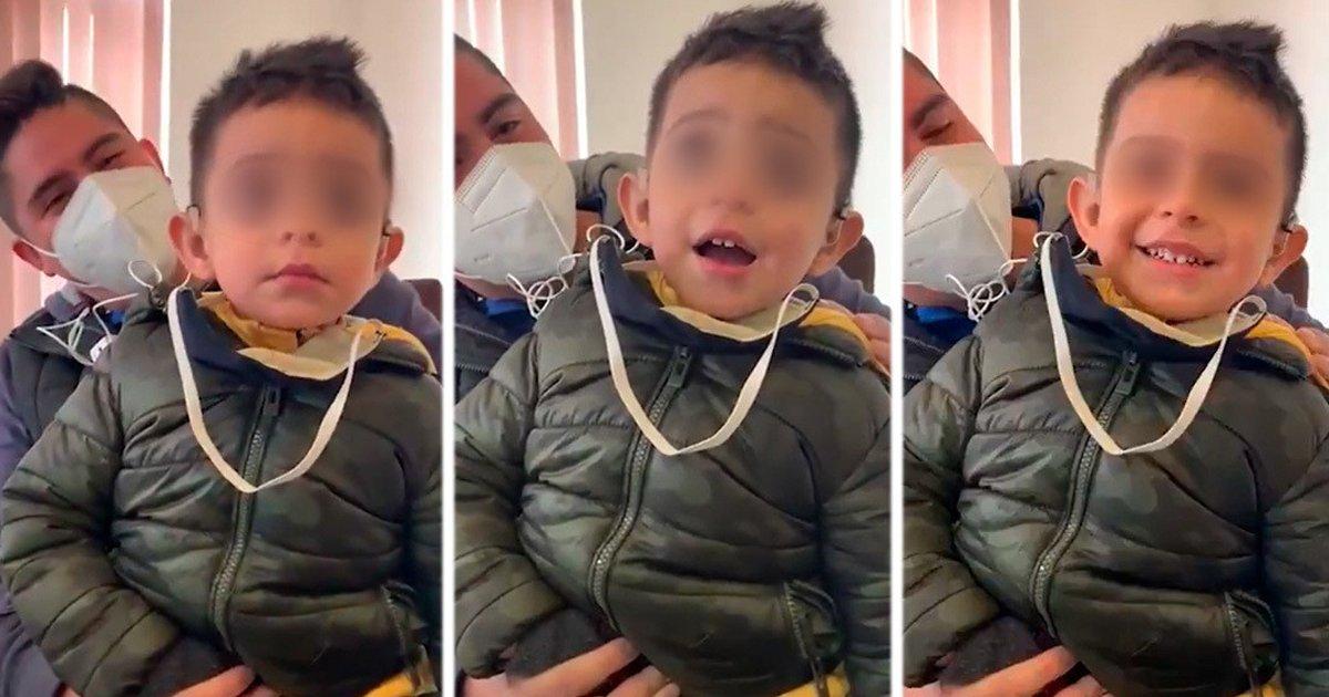 1 161.jpg?resize=1200,630 - La Reacción De Un Niño Sordo De 2 Años Al Escuchar La Voz De Su Padre Por Primera Vez