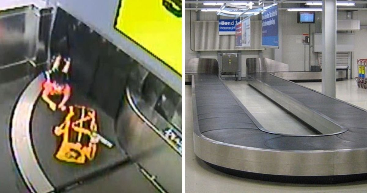 1 188.jpg?resize=412,275 - 2-Year-Old Broke His Hand After Riding Airport Conveyor Belt And Falls Into Baggage Chute