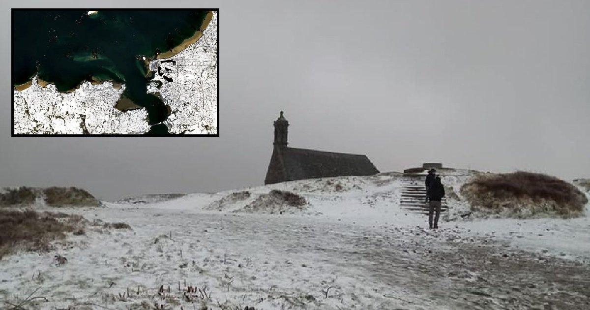 10 bretagne 1.jpg?resize=1200,630 - Découvrez de superbes images de la Bretagne sous la neige prises depuis l'espace