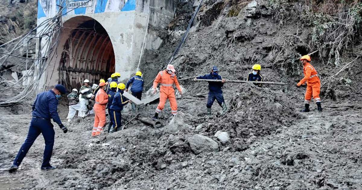 11 5.jpg?resize=1200,630 - 26 Dead, 37 Trapped, 165 Missing After Himalayan Glacier Burst In India