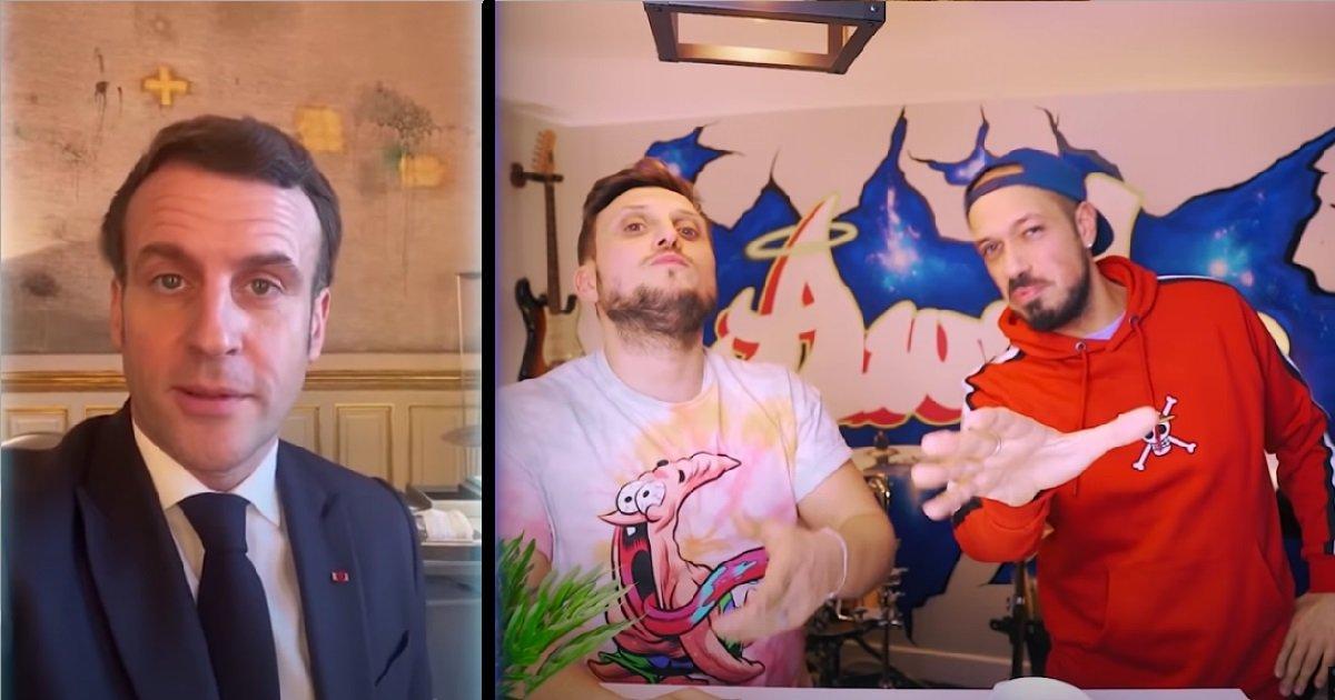 11 mc.jpg?resize=1200,630 - Emmanuel Macron lance un défi à Mcfly et Carlito pour lutter contre le Covid-19