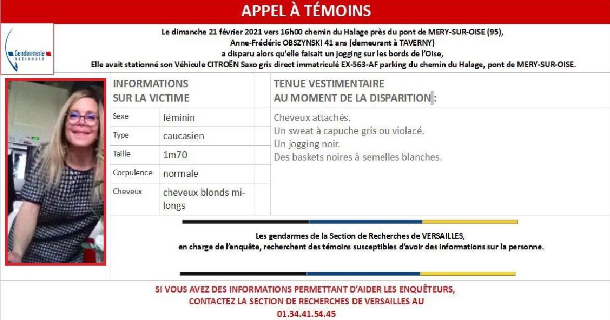 2 val doise.jpg?resize=412,275 - Val-d'Oise: un appel à témoins lancé pour retrouver une joggeuse de 41 ans portée disparue