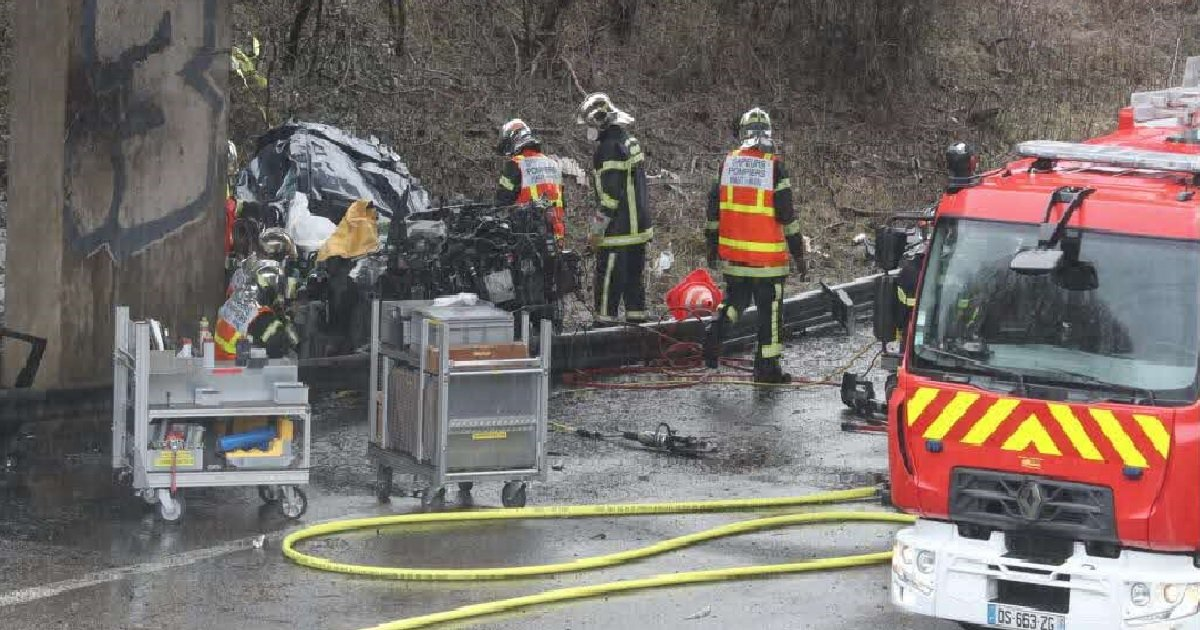 3 acc.jpg?resize=412,232 - Mulhouse: quatre amis d'enfance sont morts dans un accident de la route sur l'A36
