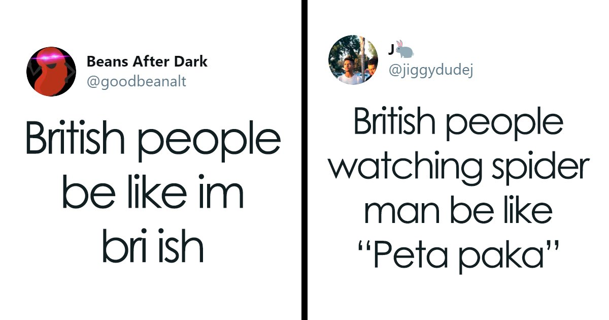 british people be like