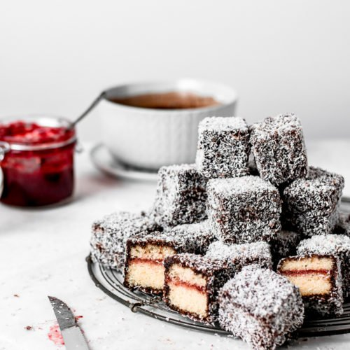 The BEST Lamingtons with Strawberry Jam | Ana