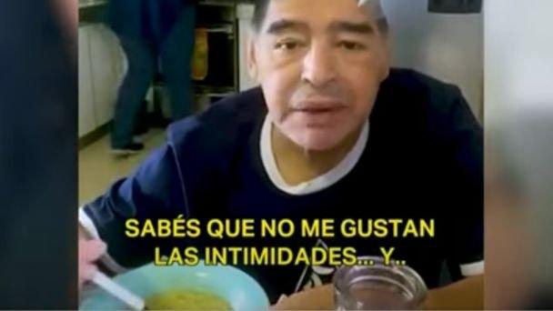 Resultado de imagen de Sale a la luz la última grabación de Maradona antes de morir