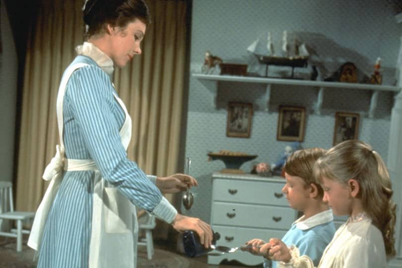 a spoon full of sugar in Mary Poppins