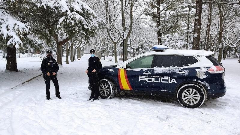 Detenido un ladrón en Teruel gracias al reguero de sangre que dejó sobre la nieve