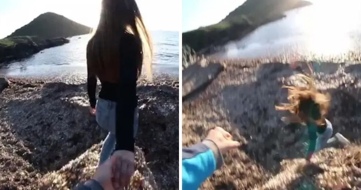 6 23.jpg?resize=1200,630 - Guy Pushes His Girlfriend Off A 'Cliff' And Gives A Thumbs-Up Over Her Motionless Body