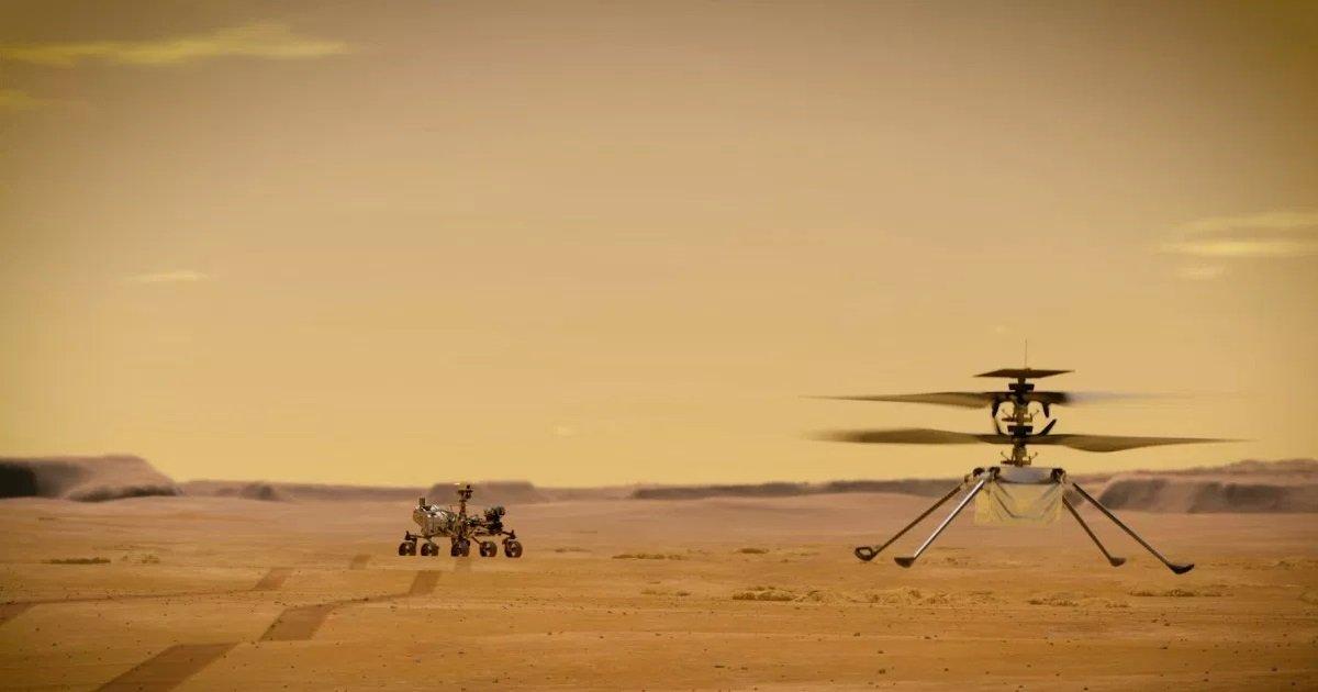 7 mars.jpg?resize=1200,630 - Mars: pourquoi un hélicoptère a aussi été déployé avec le Rover Ingenuity ?