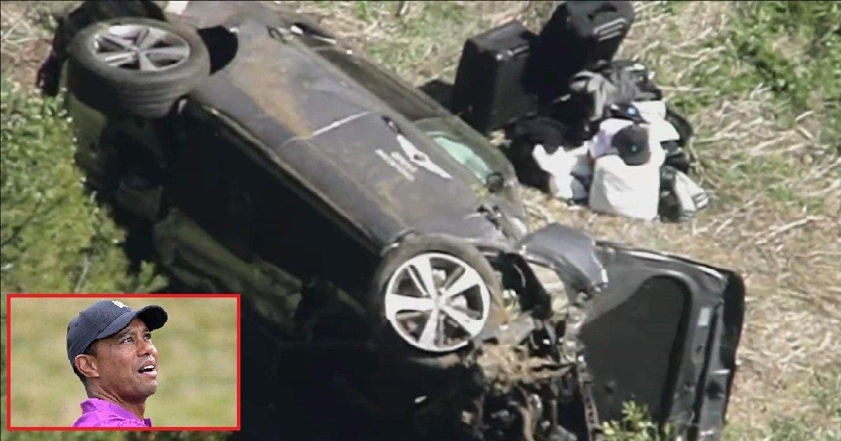 8 tg.jpg?resize=412,275 - Accident: Tiger Woods hospitalisé dans un état critique après un accident de la route