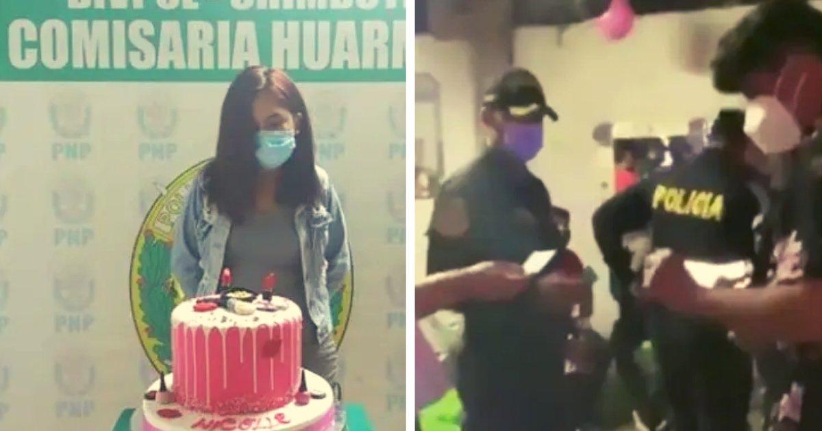 articulosportadas 3 10.png?resize=1200,630 - Mujer Es Arrestada Durante Su Fiesta De Cumpleaños Y La Obligan A Posar Al Lado Del Pastel