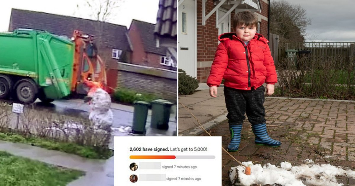 assss.jpg?resize=1200,630 - Thousands Sign Petition For Reinstating Sacked Binman Who 'Killed' Child's Snowman