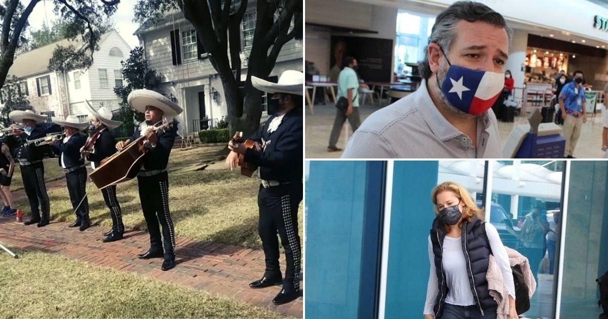 band5.jpg?resize=1200,630 - Mariachi Band Performs At Ted Cruz's Home After Their Family Trip To Mexico Amid Power Crisis