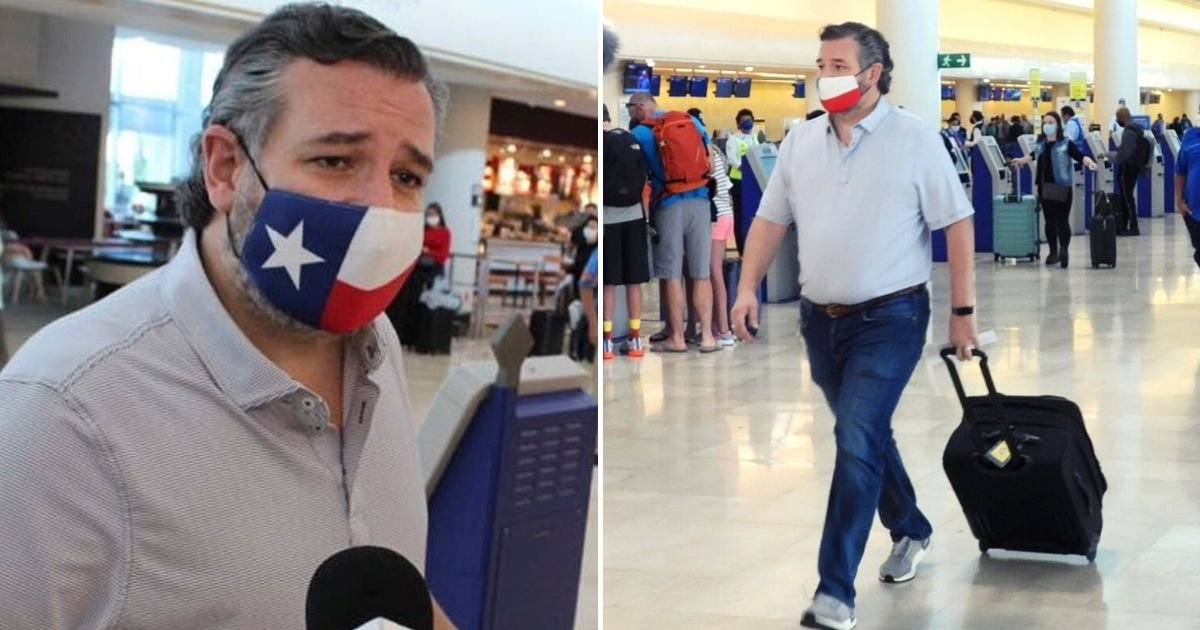 cruz6.jpg?resize=1200,630 - Texas Senator Justifies Leaving Texas After Being Caught Flying To Cancun For A Vacation As State Suffers Major Crisis