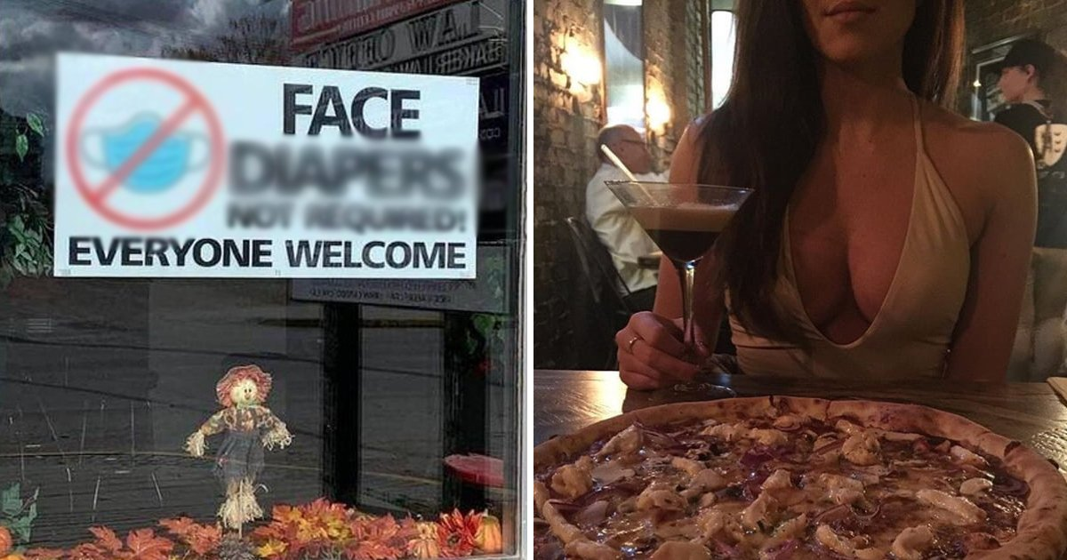 dssfdsf.jpg?resize=1200,630 - Florida Restaurant Goes Viral For 'No Face Diapers Required' Mask Policy
