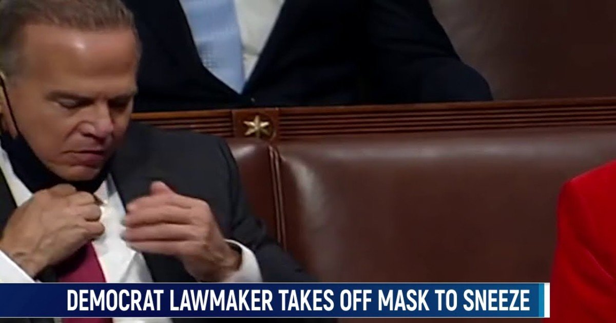 fgsdgsg 1 3 1.jpg?resize=1200,630 - Video Shows Congressman 'Removing Mask' To Sneeze Into His Hand On House Floor