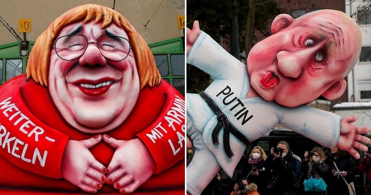 float6.jpg?resize=1200,630 - Carnival Floats Poking Fun At The Likes Of Donald Trump, Angela Merkel And Vladimir Putin Feature In A Parade