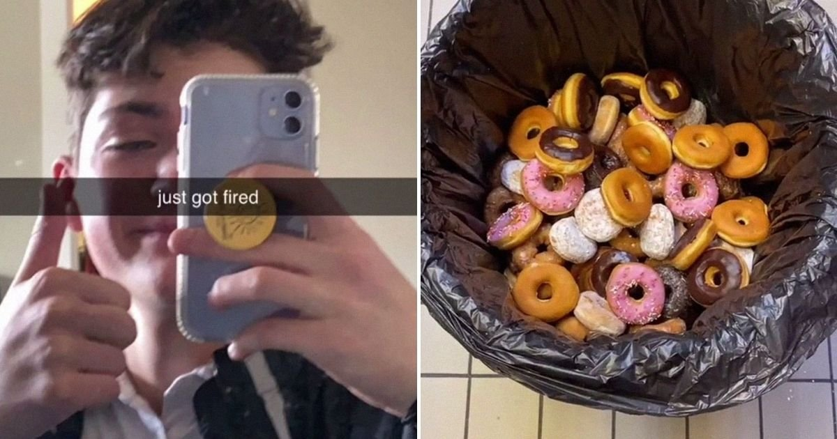 image credits bryanjohnston12.jpg?resize=412,232 - Teen Cannot Stand Throwing A Lot Of Donuts At His Job So He Gave It To The Homeless But Gets Fired In Return