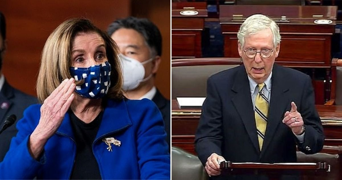 pelosi2.jpg?resize=1200,630 - Nancy Pelosi Crashed The House Impeachment Manager's Post-Trial Press Conference And Raged Against Mitch McConnell