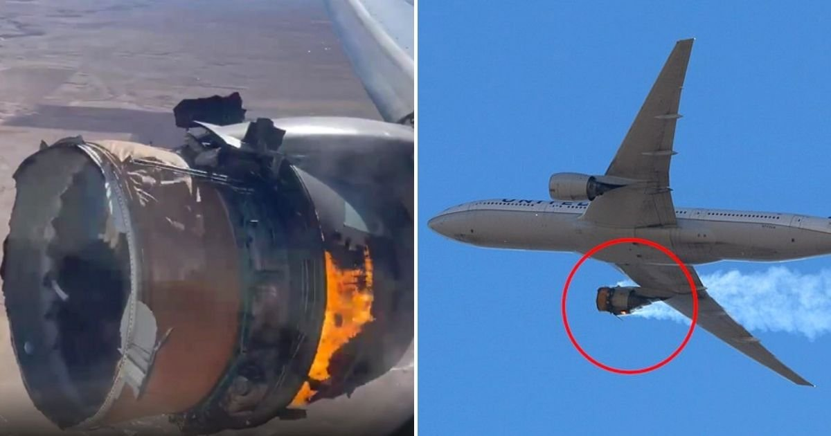 plane7.jpg?resize=1200,630 - United Airlines Flight With 241 People On Board Makes Emergency Landing After Engine Exploded Mid-Flight