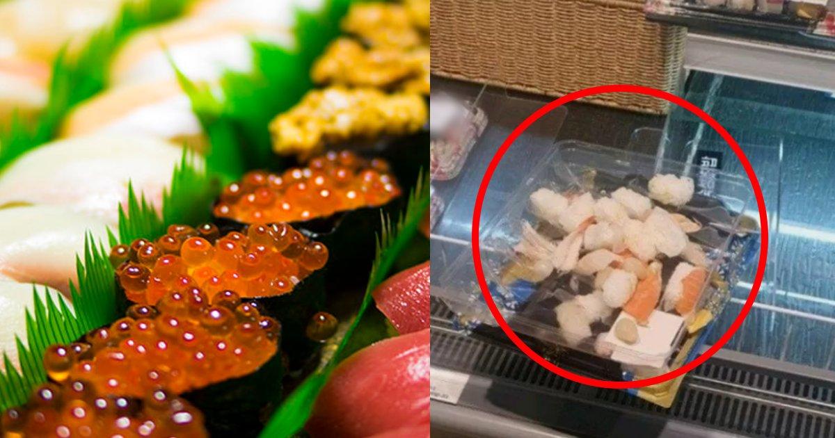 sushi.png?resize=1200,630 - スーパーの寿司を素手で触っては落とした子ども→何事もなかったかのように逃げた親がヤバいと話題に