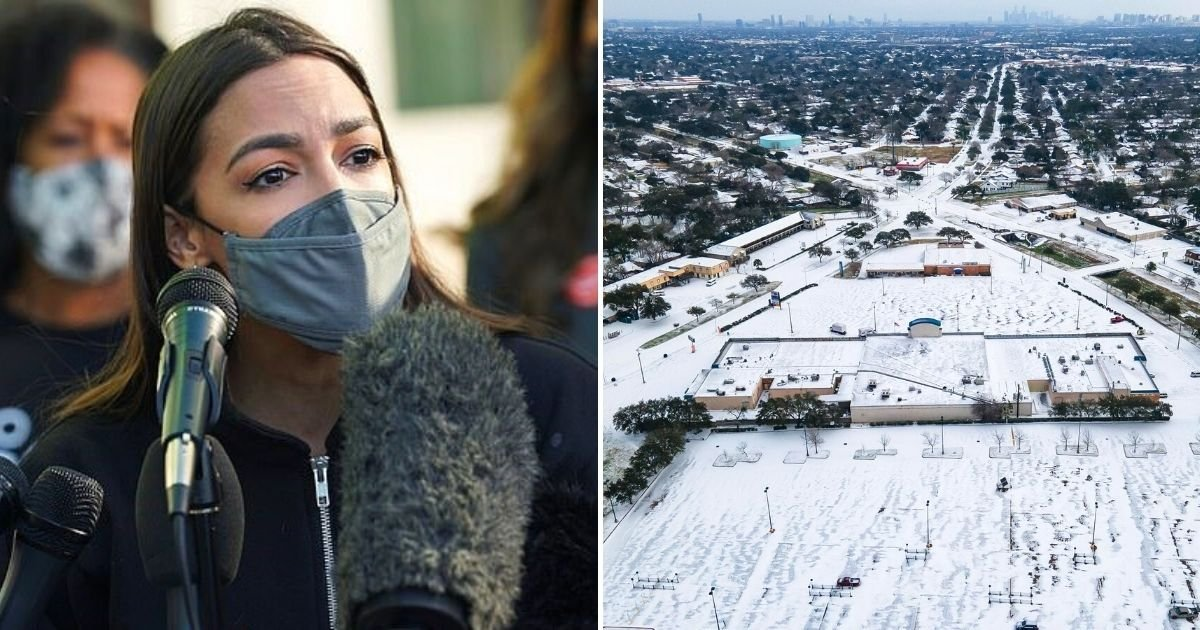 texas2.jpg?resize=1200,630 - AOC's Critics Urge Her To 'Stay In New York' As She Visits Storm-Hit Texas