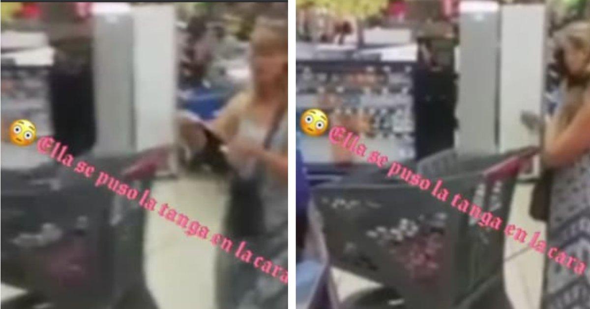 titulo 43.png?resize=1200,630 - Mujer Se Quitó Su Tanga Y La Usó De Mascarilla Para No Ser Expulsada De Un Supermercado (Video)