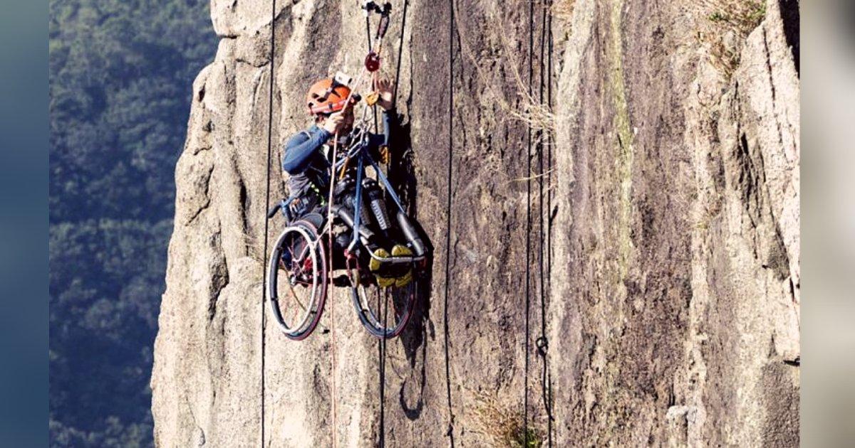 titulo 9 3.png?resize=1200,630 - Atleta Parapléjico Sube Una Montaña De 500 Metros En Su Silla De Ruedas