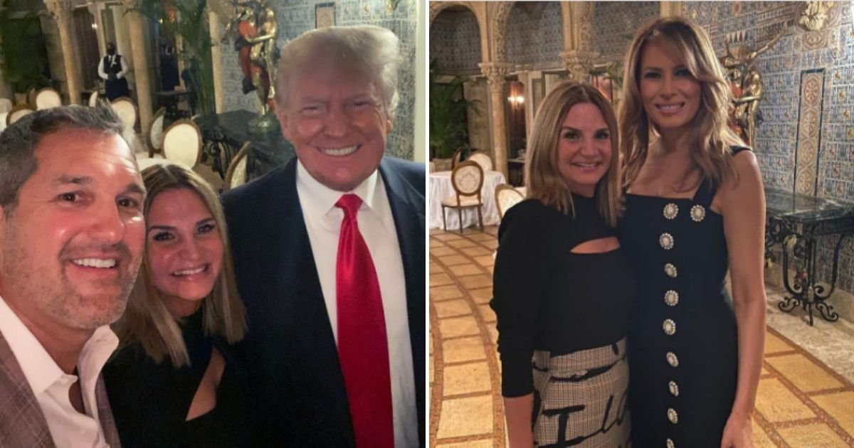 trump5 3.jpg?resize=1200,630 - Donald Trump And Wife Melania Were Seen At Same Event For First Time Since Leaving The White House