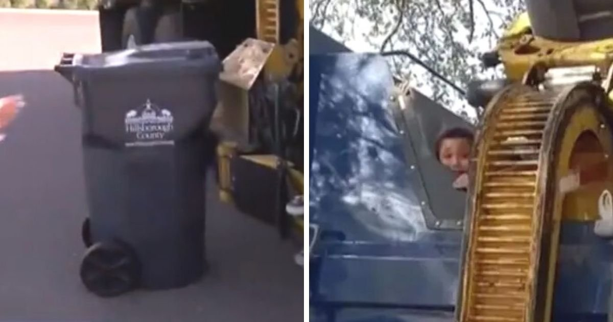 untitled design 1 8.jpg?resize=1200,630 - Little Boy Thrown Into A Garbage Truck After Hiding Inside A Trash Can