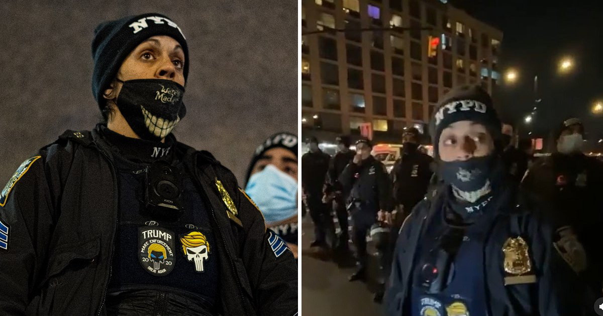 wwwwrsfsdf.jpg?resize=1200,630 - NYPD Punishes Female Cop For Flaunting 'Pro-Trump' Patch On Duty