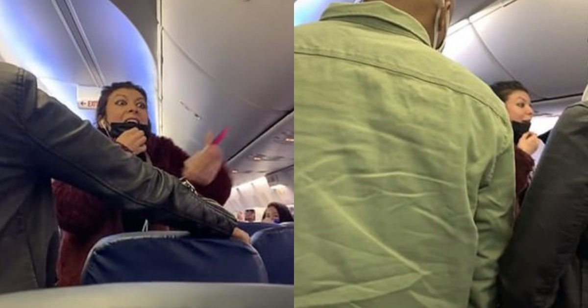 1 41.jpg?resize=1200,630 - United Airline Passenger Throws Tantrum, Lowers Mask And Shouts At People On A Flight To Vegas