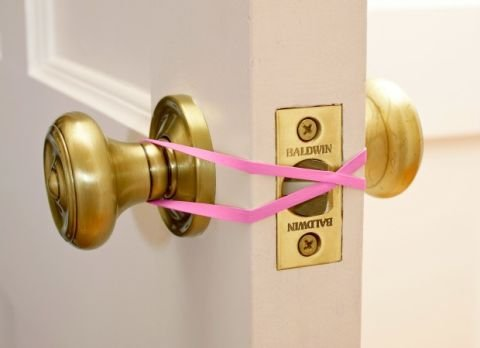 rubber band over door lock