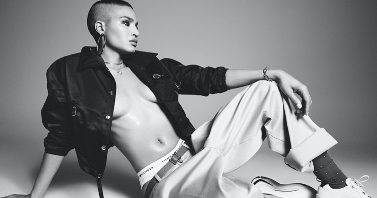 angel thumb.png?resize=412,275 - Transgender Pose Star Stunting In Topless Shoot For V Magazine While Recalling Upbringing That Was Traumatic For Being Queer
