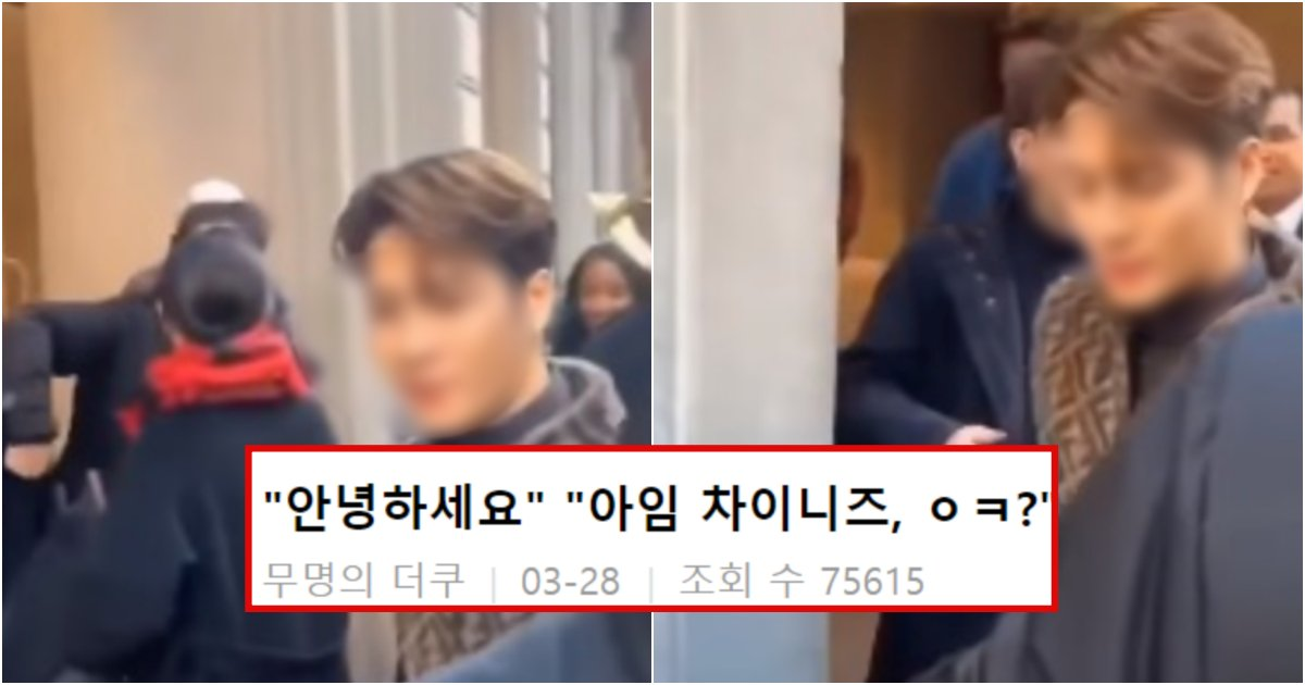 collage 181.png?resize=412,275 - 팬이 한국어로 반갑게 인사하자 역겹다는 듯 쳐다보곤 '난 중국인이다' 라고 발끈한 JYP 아이돌