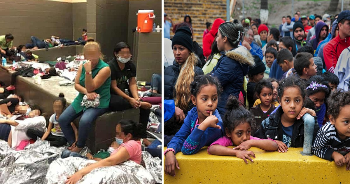 hhhhhhhh.jpg?resize=412,275 - New Images Show Heartbreaking Scenes Inside Texas's Overcrowded Migrant Facility