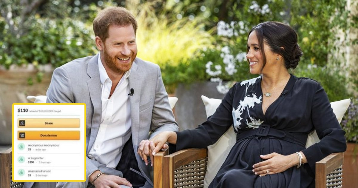ssssssssss.jpg?resize=1200,630 - Prince Harry & Meghan's GoFundMe Page Set Up To Pay £11m For Mortgage Shuts Down After Raising Just £78.64