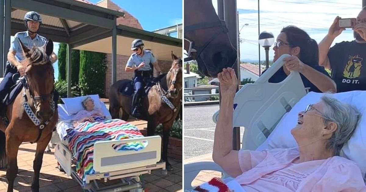 untitled design 36.jpg?resize=1200,630 - World's First Female Mounted Police Officer Breaks Into Tears As Her Final Wish Is Granted